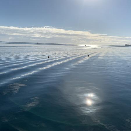 lever du soleil sur le lagon de Moorea